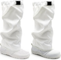 ESD cleanroom shoes with gaiter